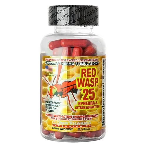 Red Wasp 25 Ephedra Higenamine Weight Loss Pills Otc 75ct 28 75