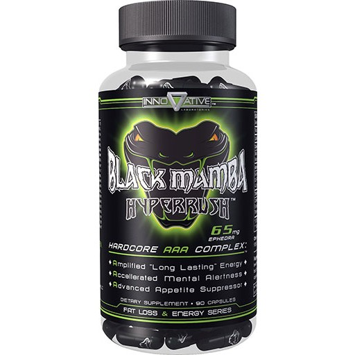 Black Mamba Hyperrush 65mg Ephedra Phenylethylamine and Caffeine