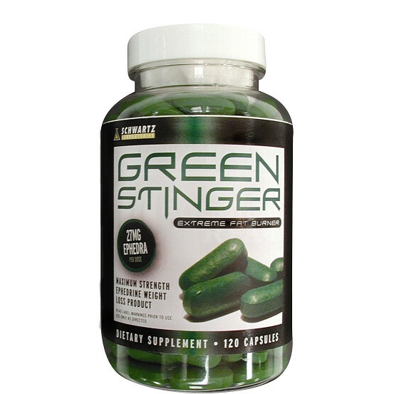 Green Stinger Schwartz Labs Ephedra Fat Burner Pills 120ct