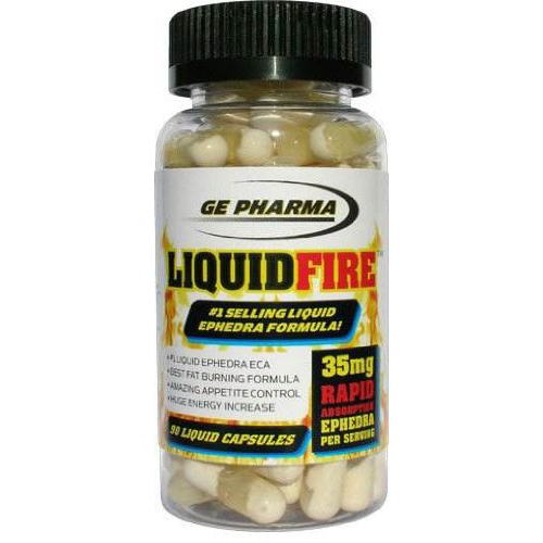 Liquid Fire GE Pharma 35mg Ephedra Extract with Yohimbe 90ct