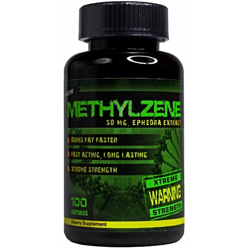 Methylzene 50mg Ephedra Fast Acting Metabolism Booster 100ct