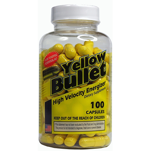 Yellow Bullet Ephedra Weight Loss and Fat Loss Pills 100ct