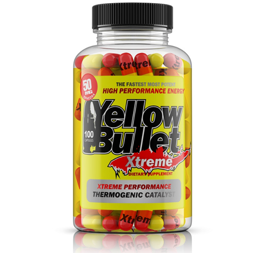 Yellow Bullet Xtreme Ephedra Diet Pill Lose Weight Fast 100ct